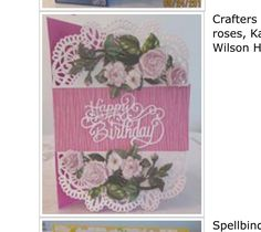 Kanban Crafts, Card Making, Rose, Tableware, Cards, How To Make, Pink, Dinnerware, Dishes