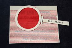 Notes from the Plumb Tree: Hunter's Secret Agent Detective Party Red cellophane reveal codes Spy Birthday Parties, Spy Party, Party Time, Arte Assemblage, Photo Booth Anniversaire, Escape Room Diy, Secret Agent Party, Detective Party, Escape Room Puzzles