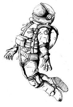 pin by tuna sagdan on astronaut tattoos, astronaut - astronaut sketch Astronaut Tattoo, Astronaut Drawing, Tattoo Drawings, Body Art Tattoos, Sleeve Tattoos, Space Tattoos, Circle Tattoos, Owl Tattoos, Tattoo Ink