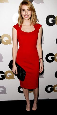 Look of the Day › November 20, 2011 WHAT SHE WORE Roberts dropped by the Men of the Year bash in a sleek tomato sheath from ASOS.