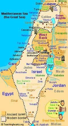 Map of modern Israel