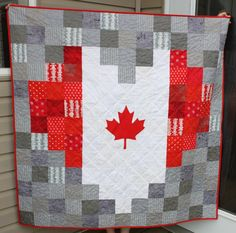 Daydreams of Quilts: Heart Shaped Canadian Flag Pixelated Quilt Flag Quilt, Quilt Blocks, Canadian Quilts, Canadian Flags, Quilts Canada, Homemade Quilts, King Size Quilt, Custom Quilts, Quilt Patterns