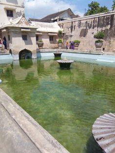 This is Taman Sari water palace. It was made for the use of the Sultan and his concubines. However, only two Sultans ever used it.