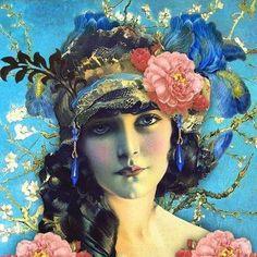 "Рольф Армстронг. ""Цыганка"", 1930-е годы / Rolf Armstrong Gypsy 1930's"