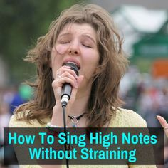 How To Sing High Notes Without Straining (TIPS AND EXERCISES) - - Singing higher notes can be difficult, but anyone can do it. Read on to learn how to extend your range and hit higher notes with ease. But you do need to be aware that. Vocal Lessons, Singing Lessons, Singing Tips, Art Lessons, Learn Singing, Music Lessons, Ukulele, Guitar Chords For Songs, Music Guitar