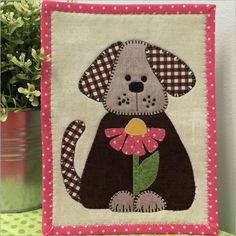 Daisy Doggie mug rug pattern by Stitches of Love Quilting
