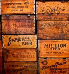 Vintage beer cases