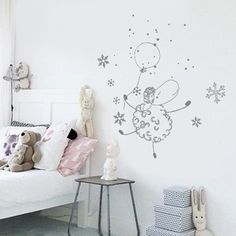 Stickers chambre enfant mouton ballon