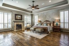 Custom paint and molding create a chic, serene space