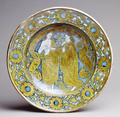 Dish  ca. 1520 Italian, Deruta Maiolica (tin-glazed earthenware)