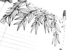 Handdrawn leaves