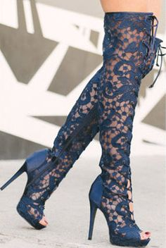 Lace Knee-hi Boots... Affordable luxury