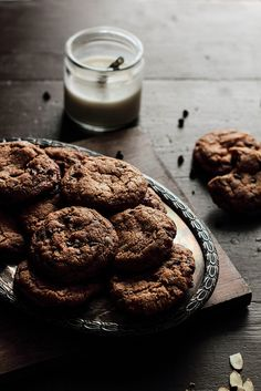 almond butter chocolate chip gluten-free cookies •  pastry affair