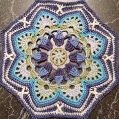 Latest crochet project. One octogon of many for an afghan. Pattern is Persian Tiles by Janie Crow. #crochet #crochetafghan #crochetwip by 82alecia82