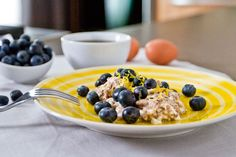 Egg Whites With Cinnamon and Blueberry