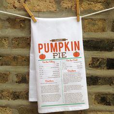 Personalized Easy As Pie Kitchen Towel: Pumpkin