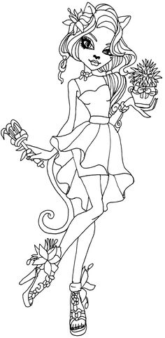 Sirena Von Boo Monster High Coloring Page   coloring ...