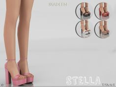Sims 4 CC's - The Best: Madlen Stella Shoes by MJ95
