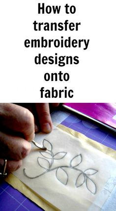 How to transfer an embroidery design #embroidery #tutorials #howtotransfer #embroiderydesigns #needlework #transfer