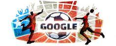 COSAS VARIAS: el logo de google por la semifinal de la copa america