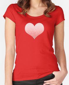 """Gradient red and white swirls doodles Heart"" T-Shirts, Tanks & Hoodies by @savousepate on @redbubble #heart #love #valentinesday #pattern #abstract #modern #graphic #geometric #red #ombre #gradient #tshirt #teeshirt #apparel #clothing #fashion"