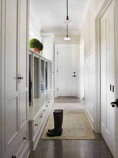 Traditional Mud Room with Crown molding, Dolan Designs 200-46 Warm Bronze Fireside 1 Light Mini Pendant, specialty door