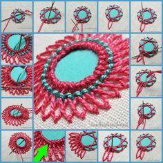 Name: Views: 4850 Size: KB – Handwerk und Basteln Indian Embroidery, Learn Embroidery, Hand Embroidery Stitches, Hand Embroidery Designs, Embroidery Techniques, Embroidery Applique, Beaded Embroidery, Cross Stitch Embroidery, Embroidery Patterns