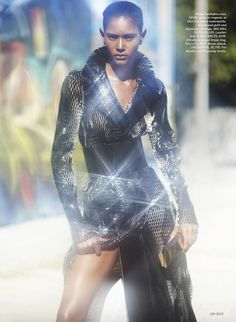 Power Trip: Ysaunny Brito by David Bellemere for Elle US July 2015 - DIOR Fall 2015