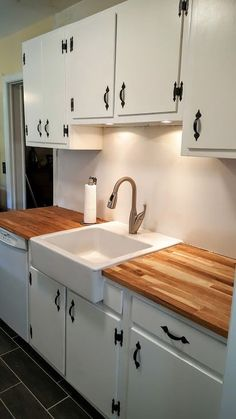 Kitchen Renovation On A Budget In Phoenixville With IKEA Butcher Block  Countertops, Refinished Cabinets And