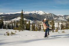 Sapphire Point Overlook Winter Colorado Romantic Morning Proposal