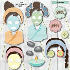 Instant Download Spa theme party photo booth prop by FifteenPril $9.90