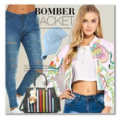 """Bomber Jacket"" by svijetlana ❤ liked on Polyvore"