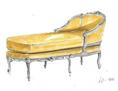 French Chaise, Michelle Morelan
