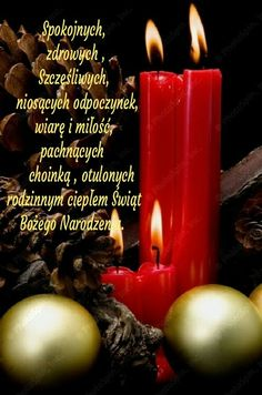 Kartka świąteczna 🌲🎅🌲🌲🌲🎅🌲🌲🎅 Christmas And New Year, Christmas Cards, Merry Christmas, Christmas Pictures, Happy Birthday, Candles, Crafty, Easter, Nighty Night
