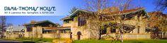 Dana-Thomas House, a Frank Lloyd Wright home, in Springfield, Illinois