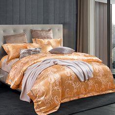 noble royal court style sheets sets peacock tail print silk cotton jacquard linens bedding sets multi size bedspread sets #Affiliate