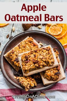 Apple Oatmeal Bars Recipe - 18 Of The BEST EVER Apple Recipes