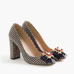 Collection Lena jeweled tweed pumps     J.Crew Wedge Heels, Women s Pumps, f86f2384ea69