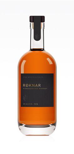 Roknar — Far North Spirits designed by Jenney Stevens #drinklocal #craftspirits #ryewhiskey