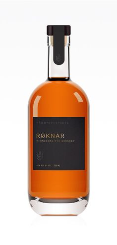 Roknar — Far North Spirits designed by Jenney Stevens #drinklocal #craftspirits #ryewhiskey