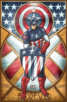 Captain America Deco by *ninjaink on deviantART