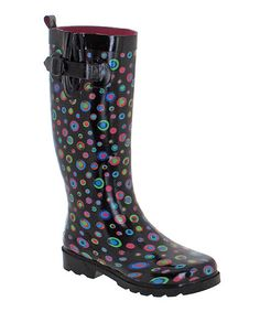 Love this Black Marbles Rain Boot by Capelli New York on #zulily! #zulilyfinds