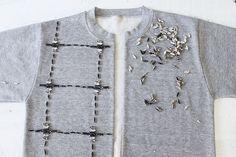 Hacer una chaqueta de bombardero de una sudadera www.apairandasparediy.com