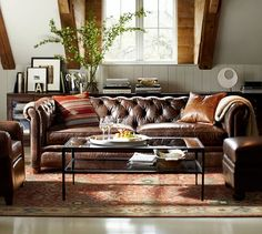 Living Room Decor with Leather sofa Interior Design Ideas with Chesterfield sofa Chesterfield Sofa Living, Sofa Design, Furniture, Home Living Room, Living Room Sofa, Leather Sofa, Living Spaces, Chesterfield Sofa Living Room, Living Room Furniture