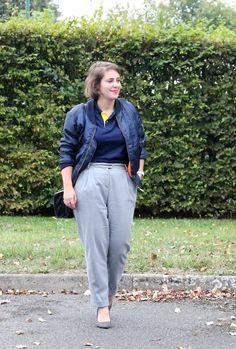 Veste @BOOHOO Polo @RALPHLAUREN Pantalon @MANGO Escarpins @ERAM