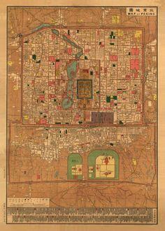 map of Peking (Beijing) (1914 CE)