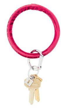 O-Venture Big O Key Ring Crown Jewel - Pink Topaz CrOc
