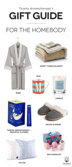 Tazeka's gift guide for the homebody http://www.tazekaaromatherapy.com/