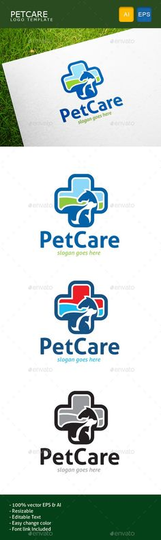 Pet Care: Animal Logo Design Template by gulali. Logo Design Template, Logo Templates, Cheap Logo, Portfolio Logo, Branding, Buy Pets, Free Logo, Animal Logo, Animal Design