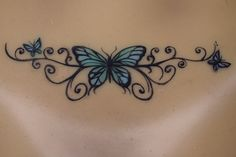 Real hand painted butterfly back tattoo on silicone Sinthetic doll